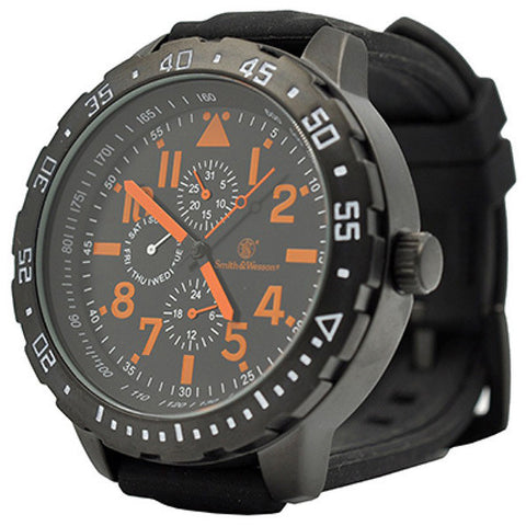 Calibrator Tactical S&W Wrist Watch (Black & Orange)
