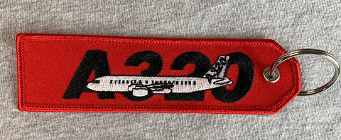 A320 Embroidered Keychain