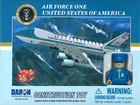 Air Force One 55 Piece Construction Block Set