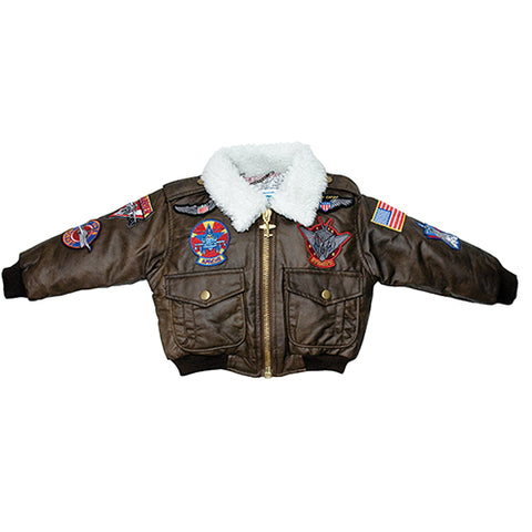 Bomber Jacket, Youth, Brown