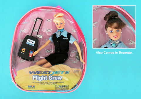 Westjet Flight Attendant Doll