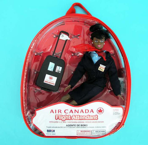Air Canada Flight Attendant Doll (African American)