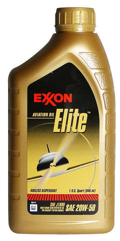 EXXON ELITE AVIATION OIL 12QT CASE