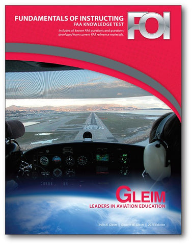 GLEIM FUNDAMENTALS OF INSTRUCTING FAA KNOWLEDGE TEST