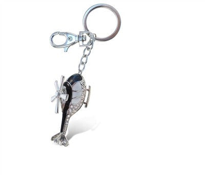 Sparkling Helicopter Keychain / Charm