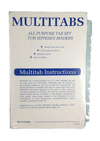 Jeppesen Multi Tabs (Set of 13)