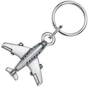 Pewter Airplane Keychain