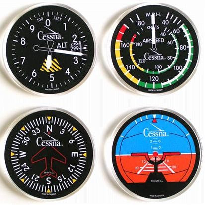 Cessna Round Coaster Set