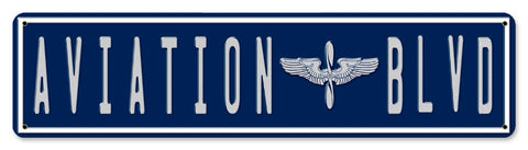 Aviation Blvd. Street Sign