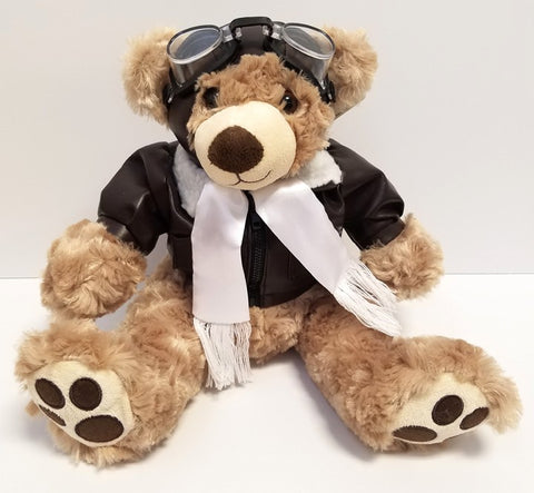 "14"" Pilot Bear with Big Adorable Feet"