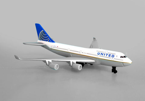 United Airlines B 747 Single Plane