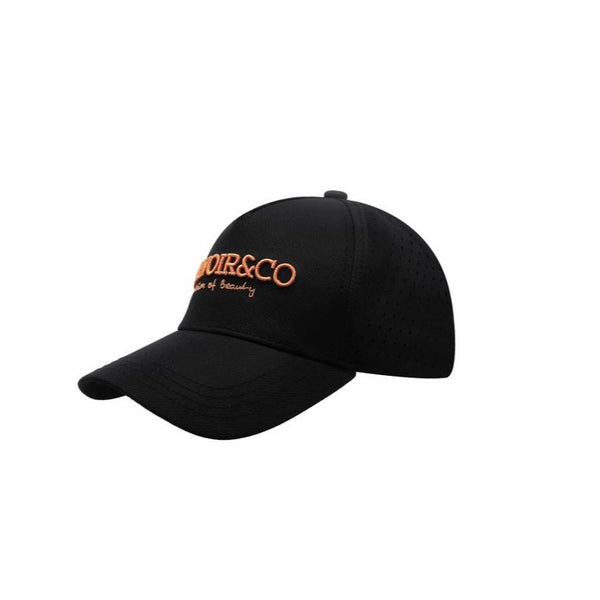 Black Cap | Peach Logo