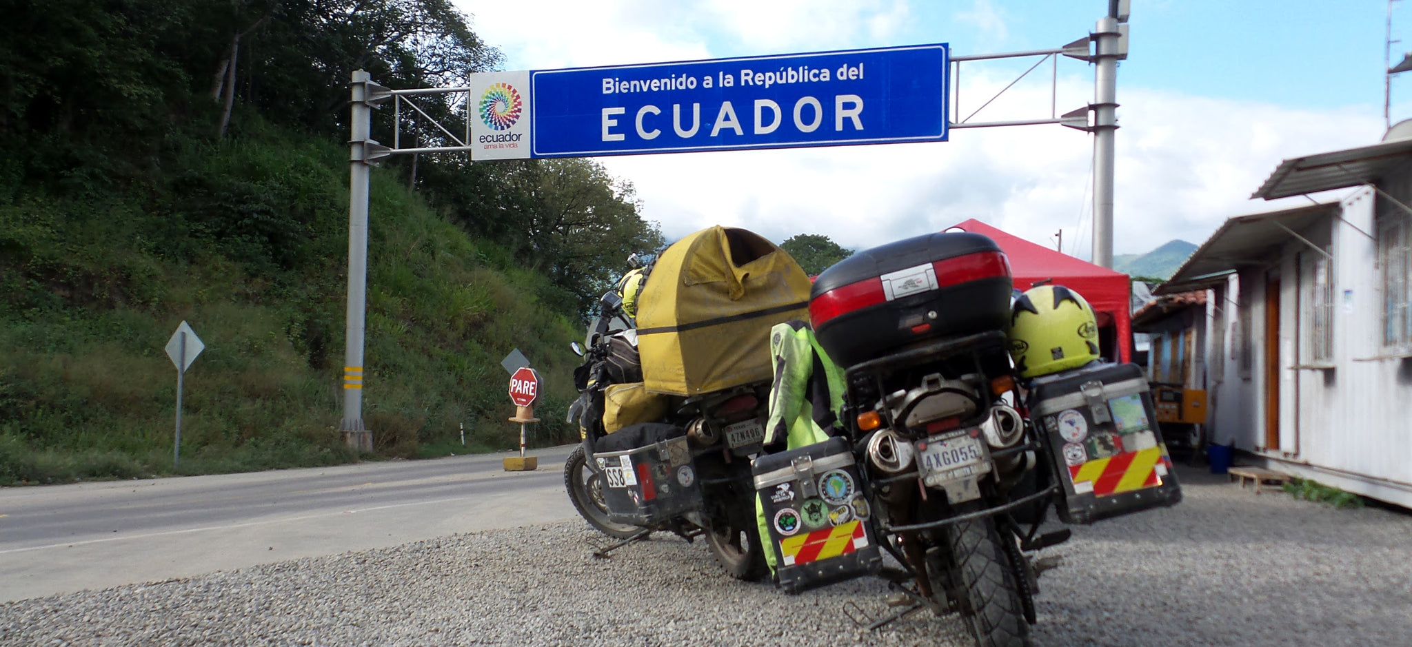 Entering Ecuador