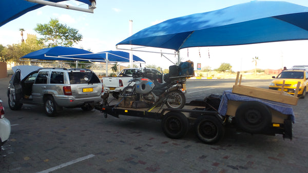 Janell's bike on the car trailer