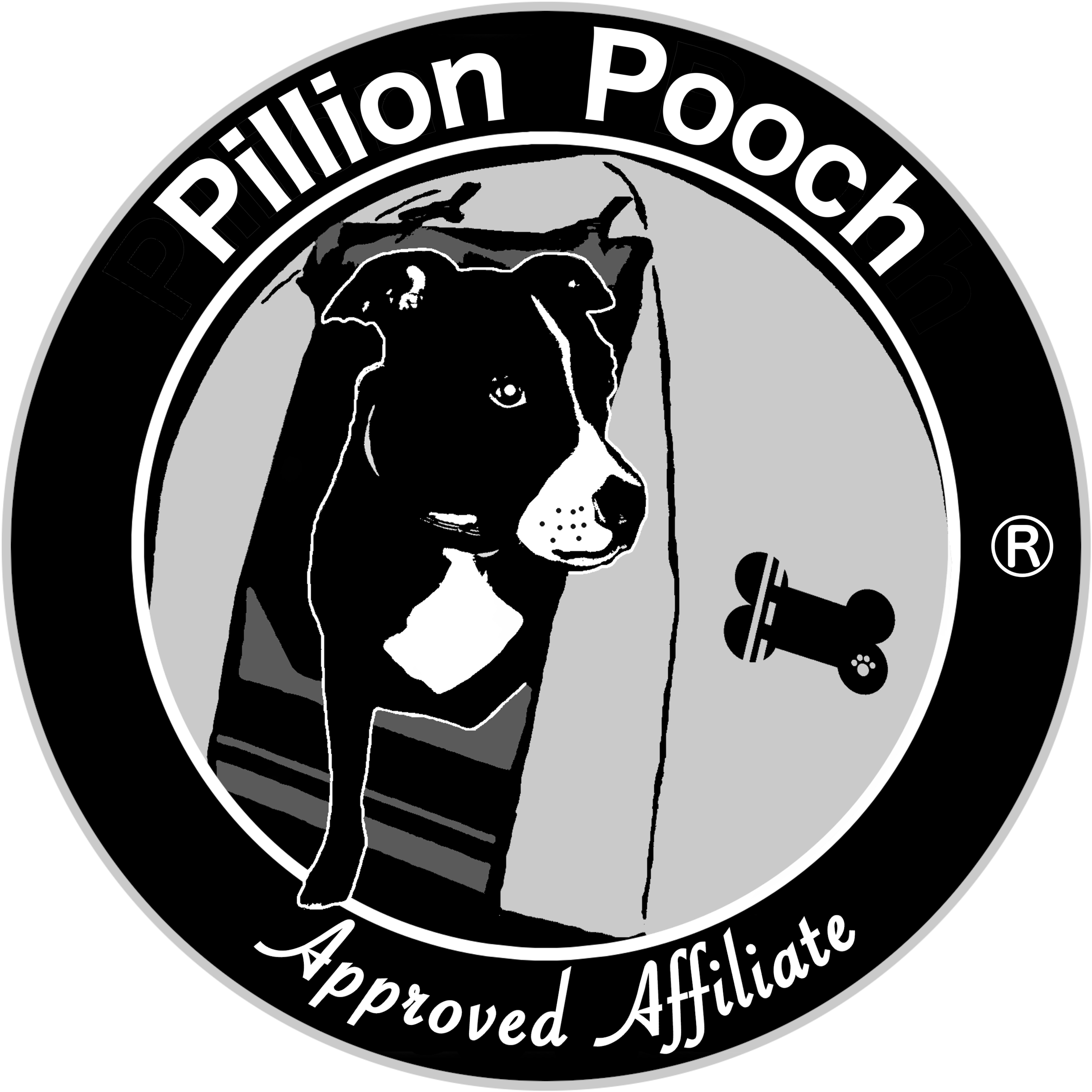 Pillion Pooch Approved Affiliate with Grey Border