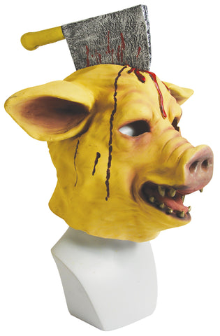 "Scary Mutilated Pig Mask ""Pork Chop"" Costume Accessory"