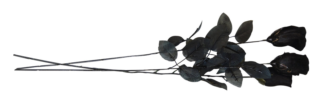 Black Rose on a Stem for Halloween Costumes