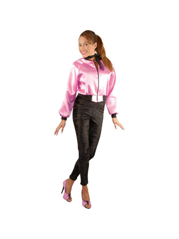 Adult Satin Pink Lady's Jacket-COSTUMEISH
