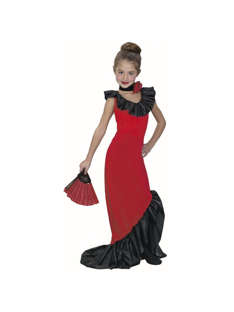Childs Flamenco Dancer Dress Costume-COSTUMEISH