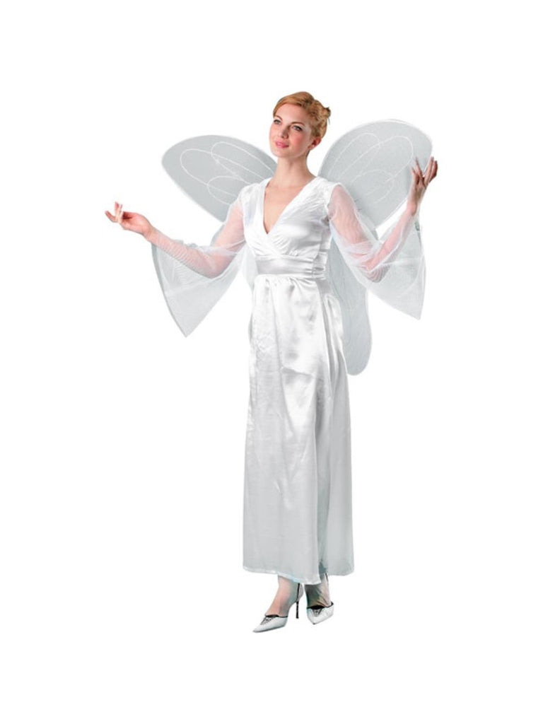 Adult Large White Costume Wings-COSTUMEISH