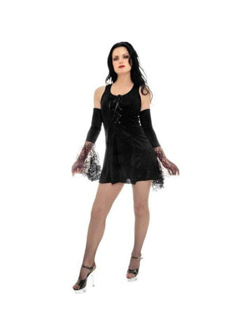 Adult Sexy Gothic Mini Dress Costume