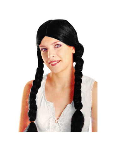 Adult Brown Pig Tail Wig-COSTUMEISH