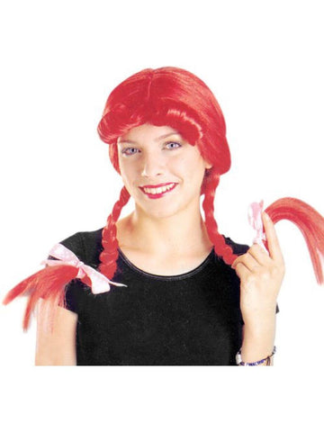 Adult Pig Tail with Bow Wig-COSTUMEISH