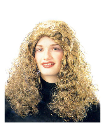 Adult Long Blonde Curly Wig-COSTUMEISH