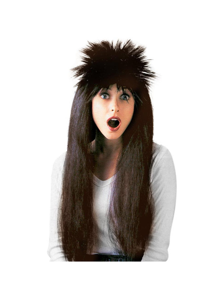 Adult Brown 80's Style Wig-COSTUMEISH