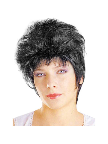 Adult Short Black Costume Wig