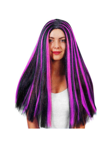 Adult Black & Purple Witch Wig-COSTUMEISH