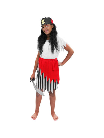 Child Carribean Girl Pirate Costume