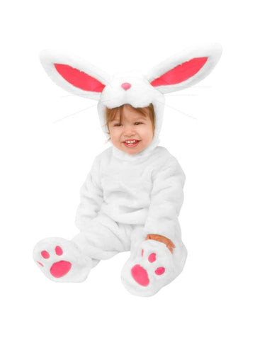 Infant Plush White Rabbit Costume-COSTUMEISH