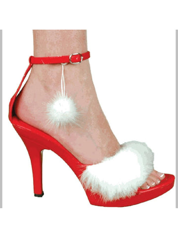 Sexy Santa Helper Costume Shoes-COSTUMEISH