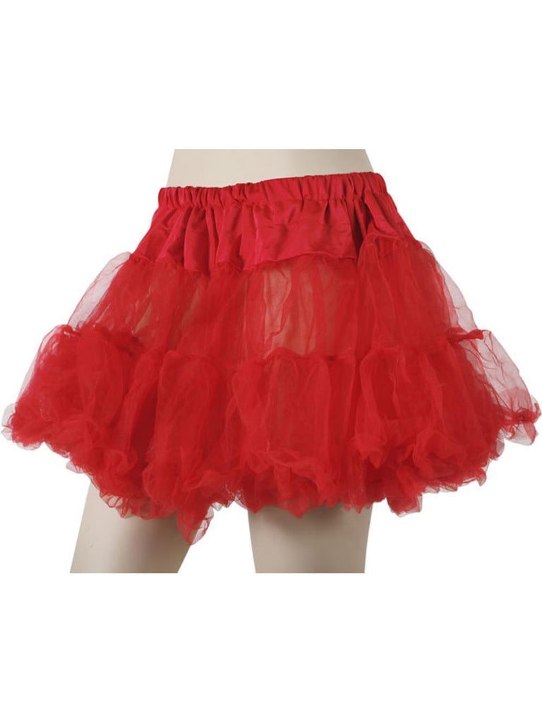Adult Red Soft Tulle Petticoat-COSTUMEISH