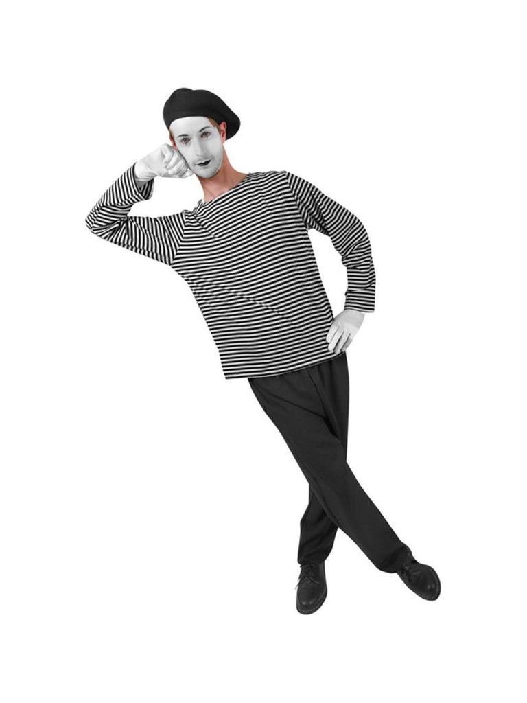 Adult French Mime Costume-COSTUMEISH
