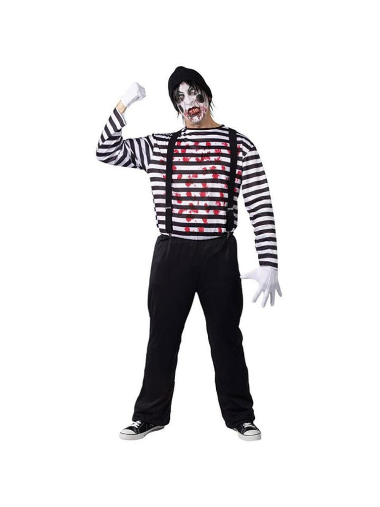 Adult Miniacal Mime Costume-COSTUMEISH