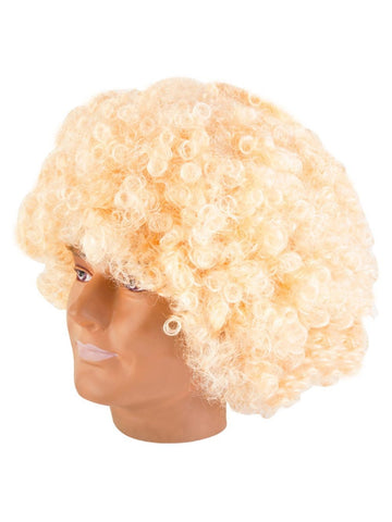 Giant Blonde Afro Wig