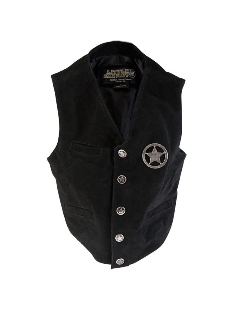 Child Leather Sheriff's Vest-COSTUMEISH