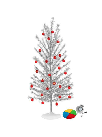 Mid Century Modern-Style Aluminum Christmas Tree w/ Color Wheel