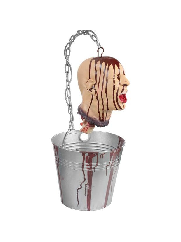 Bleeding Head In Bucket Halloween Prop-COSTUMEISH