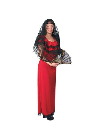 Adult Spanish Lady Costume-COSTUMEISH