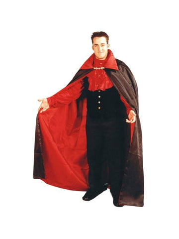Adult Reversible Satin Vampire Cape