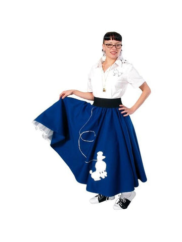 Adult 50's Long Poodle Skirt-COSTUMEISH