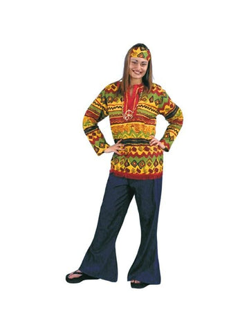 Adult Hippie Shirt Costume-COSTUMEISH