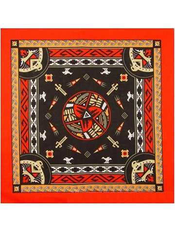 Aztec Bandanas Red W/ Dark Center-COSTUMEISH
