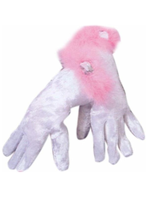 Barbie Velvet Costume Gloves-COSTUMEISH