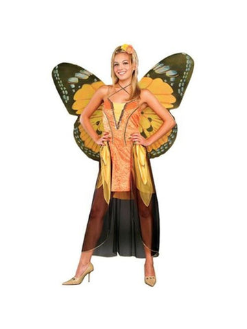 Adult Orange Butterfly Costume-COSTUMEISH