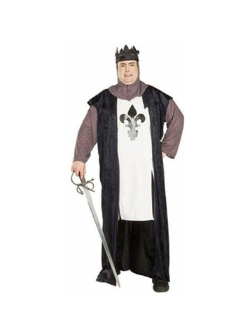 Adult Plus Size Renaissance Warrior King Costume-COSTUMEISH