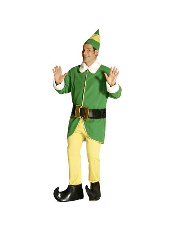 Adult Green Elf Costume-COSTUMEISH